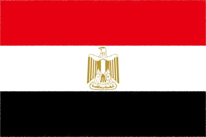 国旗 イラスト 無料|エジプト・アラブ共和国の国旗