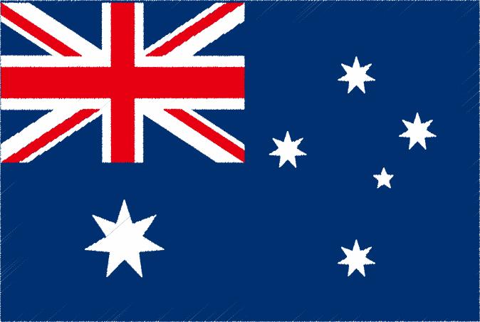 国旗 イラスト 無料|オーストラリア連邦の国旗