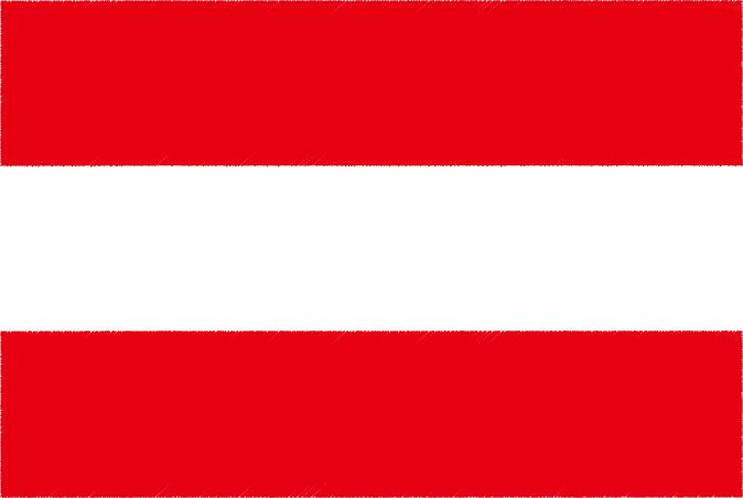 国旗 イラスト 無料|オーストリア共和国の国旗