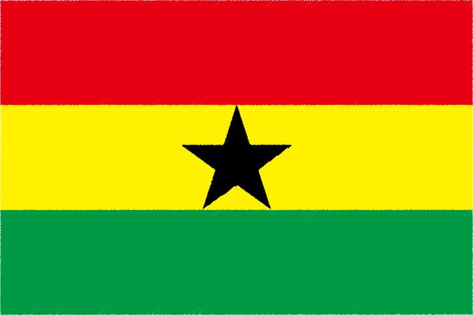 国旗 イラスト 無料 ガーナ共和国の国旗