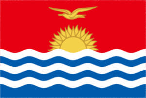 国旗 イラスト 無料|キリバス共和国の国旗