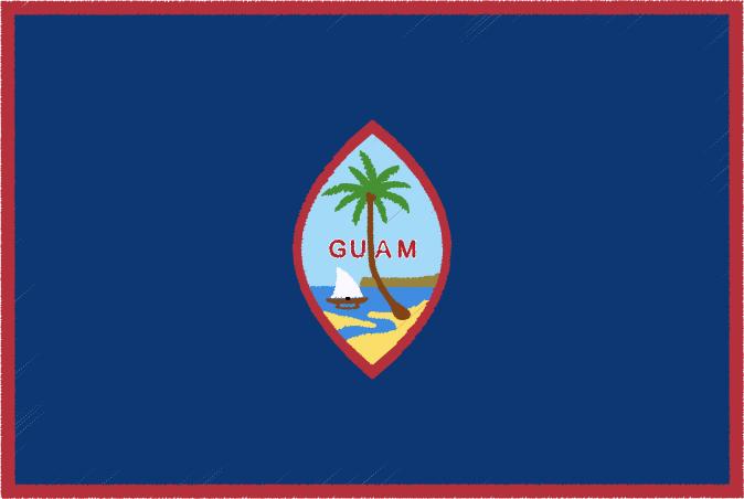 国旗 イラスト 無料|グアムの国旗
