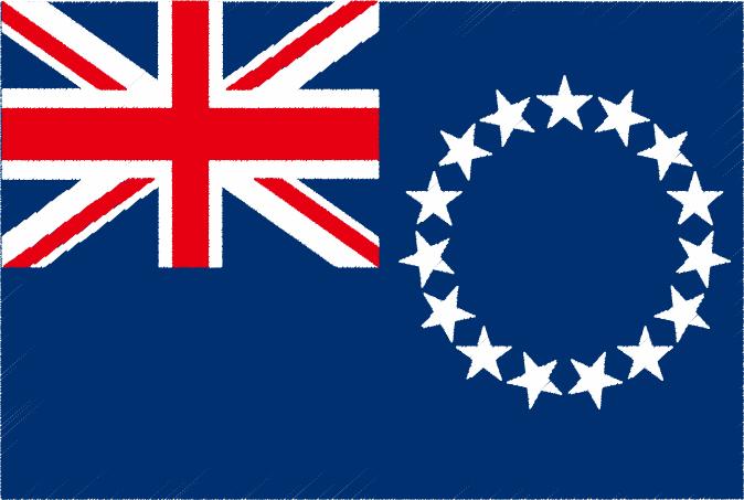 国旗 イラスト 無料|クック諸島の国旗