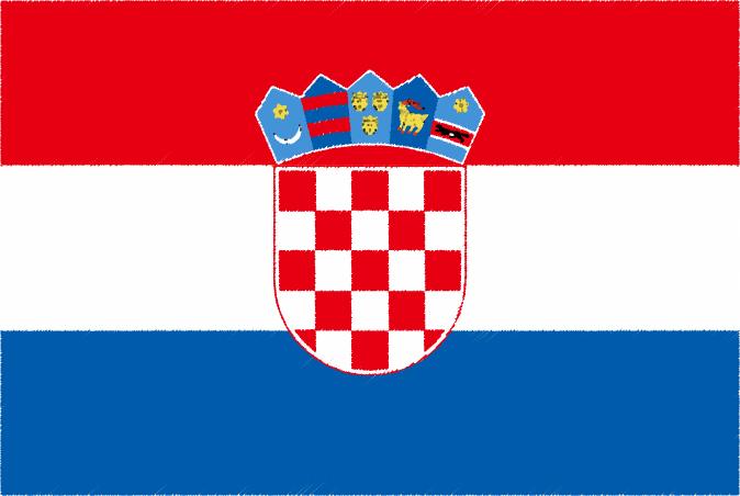 国旗 イラスト 無料|クロアチア共和国の国旗