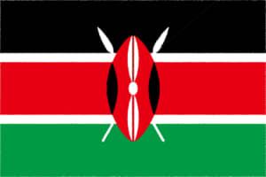 国旗 イラスト 無料|ケニア共和国の国旗