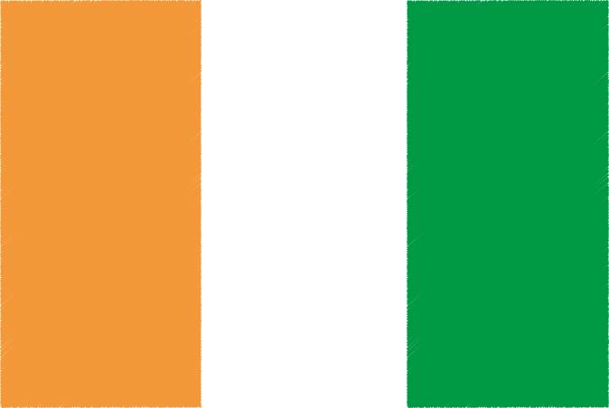 国旗 イラスト 無料|コートジボワール共和国の国旗
