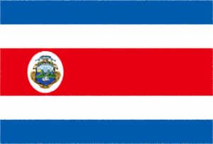 国旗 イラスト 無料|コスタリカ共和国の国旗