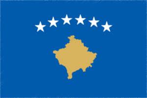 国旗 イラスト 無料|コソボ共和国の国旗