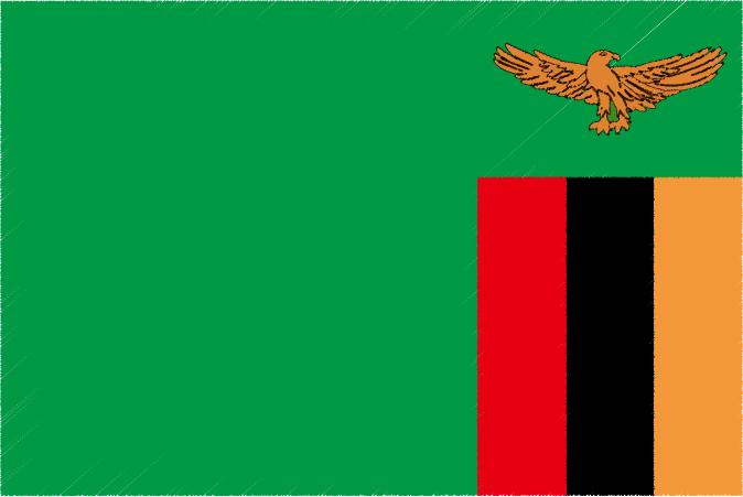 国旗 イラスト 無料|ザンビア共和国の国旗