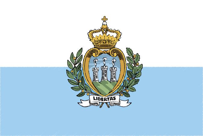 国旗 イラスト 無料 サンマリノ共和国の国旗