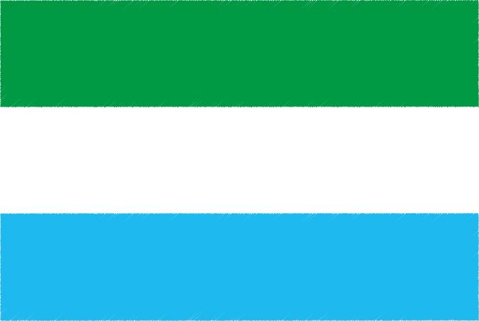 国旗 イラスト 無料|シエラレオネ共和国の国旗