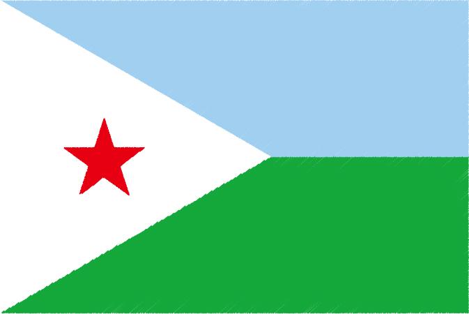 国旗 イラスト 無料 ジブチ共和国の国旗