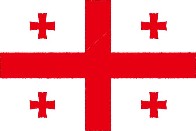 国旗 イラスト 無料|ジョージアの国旗