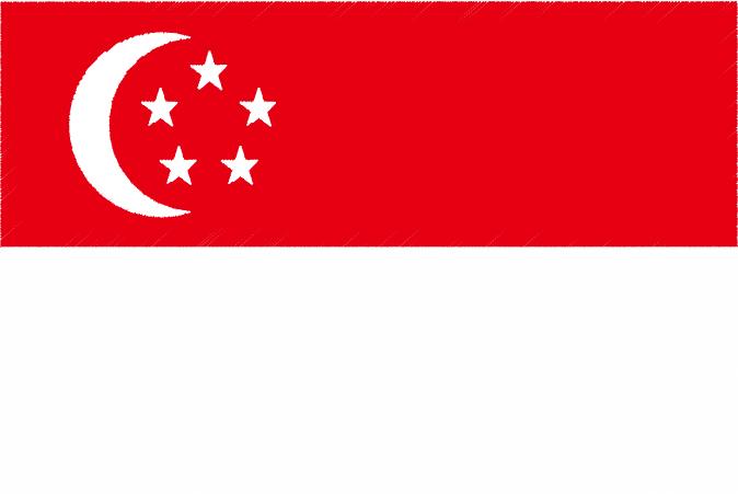 国旗 イラスト 無料|シンガポール共和国の国旗