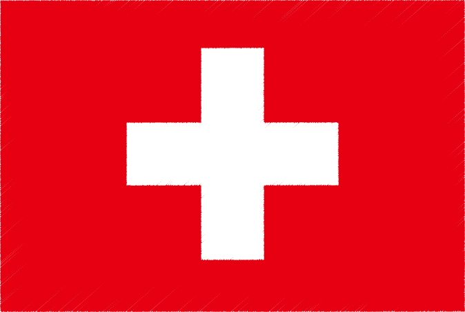 国旗 イラスト 無料 スイス連邦の国旗