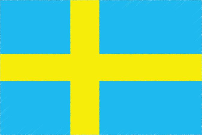 国旗 イラスト 無料|スウェーデン王国の国旗