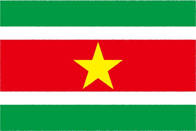 国旗 イラスト 無料|スリナム共和国の国旗