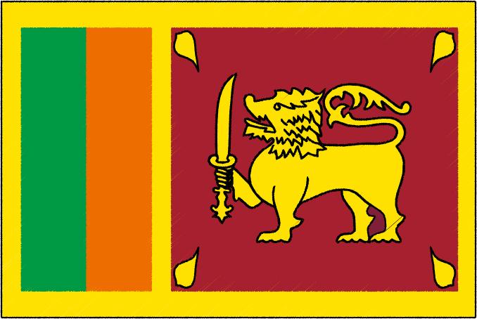 国旗 イラスト 無料|スリランカ民主社会主義共和国の国旗
