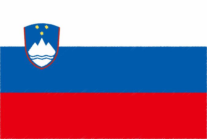 国旗 イラスト 無料|スロベニア共和国の国旗