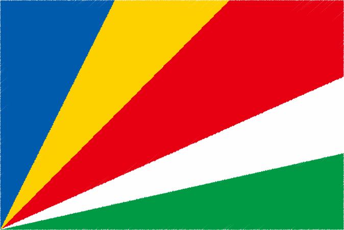 国旗 イラスト 無料|セーシェル共和国の国旗
