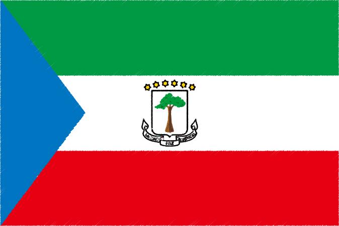 国旗 イラスト 無料|赤道ギニア共和国の国旗