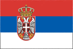 国旗 イラスト 無料|セルビア共和国の国旗