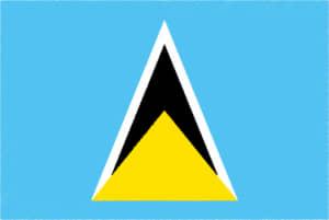 国旗 イラスト 無料|セントルシアの国旗