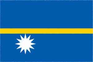 国旗 イラスト 無料|ナウル共和国の国旗