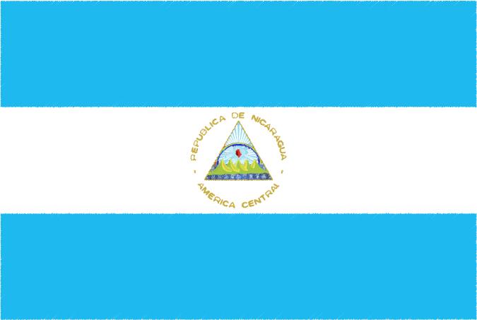 国旗 イラスト 無料|ニカラグア共和国の国旗