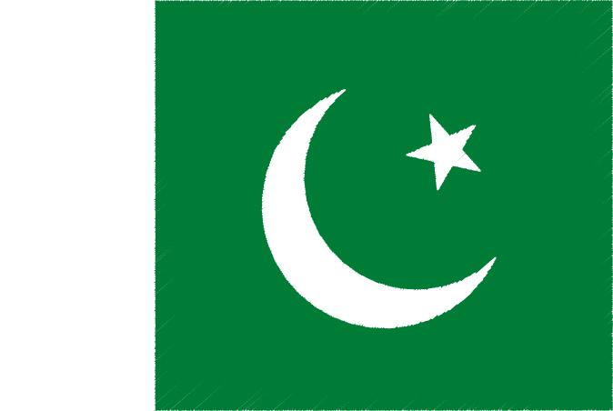 国旗 イラスト 無料|パキスタン・イスラム共和国の国旗