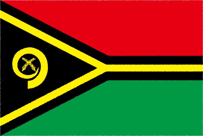 国旗 イラスト 無料|バヌアツ共和国の国旗