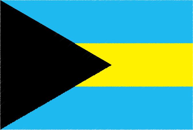国旗 イラスト 無料|バハマ国の国旗