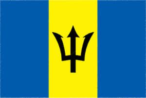 国旗 イラスト 無料|バルバドスの国旗
