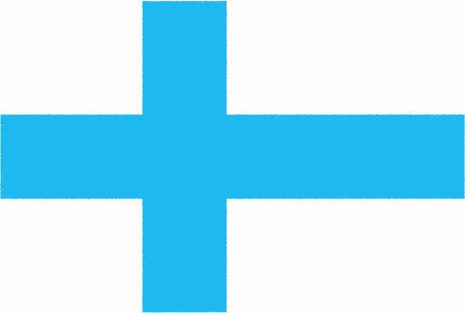 国旗 イラスト 無料 フィンランド共和国の国旗
