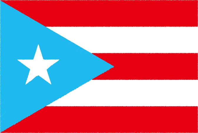 国旗 イラスト 無料|プエルトリコの国旗