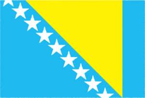 国旗 イラスト 無料|ボスニア・ヘルツェゴビナの国旗