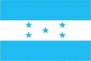 国旗 イラスト 無料|ホンジュラス共和国の国旗