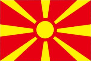 国旗 イラスト 無料|マケドニア旧ユーゴスラビア共和国の国旗