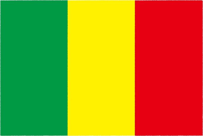国旗 イラスト 無料|マリ共和国の国旗
