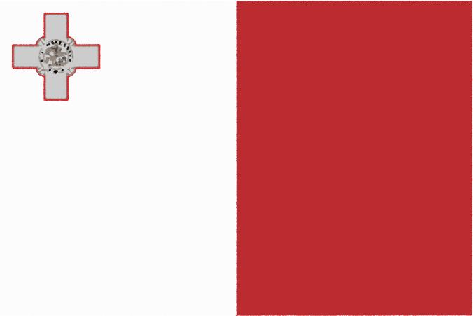 国旗 イラスト 無料 マルタ共和国の国旗