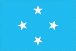 国旗 イラスト 無料|ミクロネシア連邦の国旗