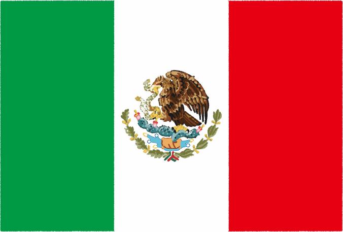 国旗 イラスト 無料|メキシコ合衆国の国旗