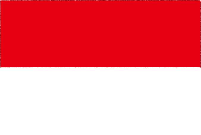 国旗 イラスト 無料 モナコ公国の国旗