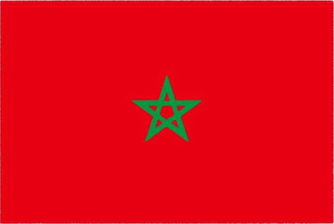 国旗 イラスト 無料|モロッコ王国の国旗