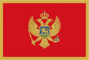 国旗 イラスト 無料|モンテネグロの国旗