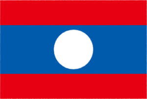 国旗 イラスト 無料|ラオス人民民主共和国の国旗