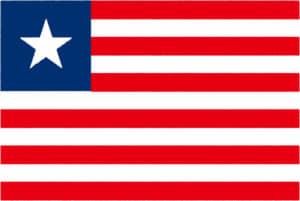 国旗 イラスト 無料|リベリア共和国の国旗