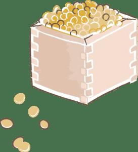 節分 イラスト 無料|手書きの福豆