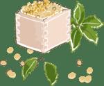 節分 イラスト 無料 手書きの柊と福豆
