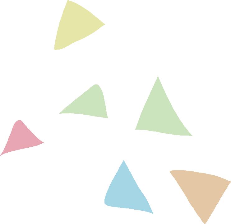 イースター イラスト 無料|手書きの三角 飾り